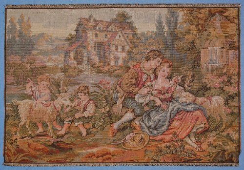 - Authentic Italian Tapestry Family Scenery - TP1147 45