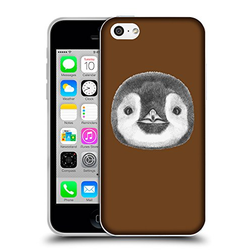 GoGoMobile Coque de Protection TPU Silicone Case pour // Q05310633 Visage pingouin Sépia // Apple iPhone 5C