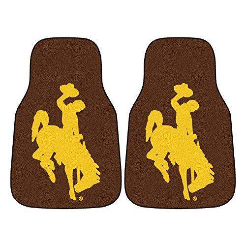 FANMATS NCAA University of Wyoming Cowboys Nylon Face Carpet Car Mat