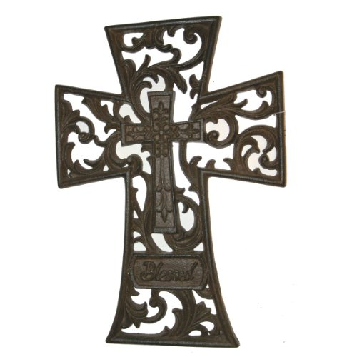 Cast Iron Wall Cross (CAST IRON BLESSED WALL CROSS)