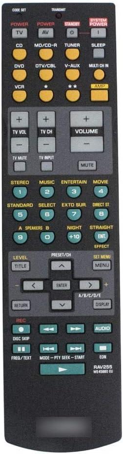 Calvas REMOTE CONTROL FOR Yamaha RAV255 WE45880 EU Receiver For RX-V557