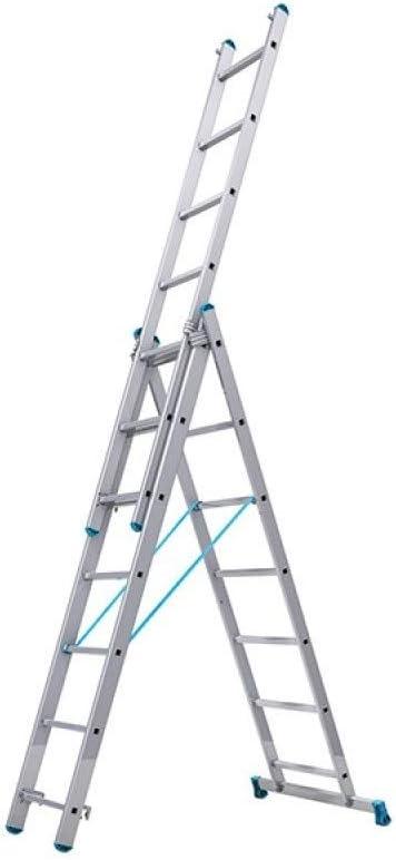 Tubesca – Escalera transformable aluminio 3 x 9 peldaños, altura Acceso de 6,8 m – Starline S +: Amazon.es: Bricolaje y herramientas