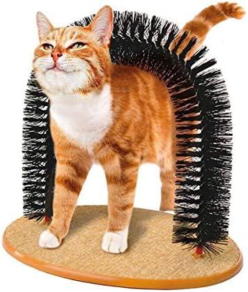 樹皮の逮捕 ペットのおもちゃ ラウンドフリースベースアニマル取り外し可能なくしブラシ引っかきおもちゃでペットの猫の自己トリマー