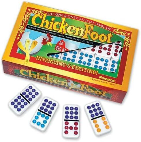 Chicken Foot Professional Double 9 Domino Game by Puremco Dominoes: Amazon.es: Juguetes y juegos