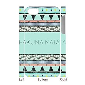 Hakuna Matata 3D-Printed ZLB543245 Personalized 3D Phone Case for Iphone 4,4S by lolosakes