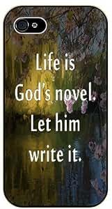 Life is God's novel. Let him write it - Bible verse For Apple Iphone 5C Case Cover black plastic case / Christian Verses