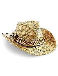 Beechfield Unisex Straw Cowboy Hat