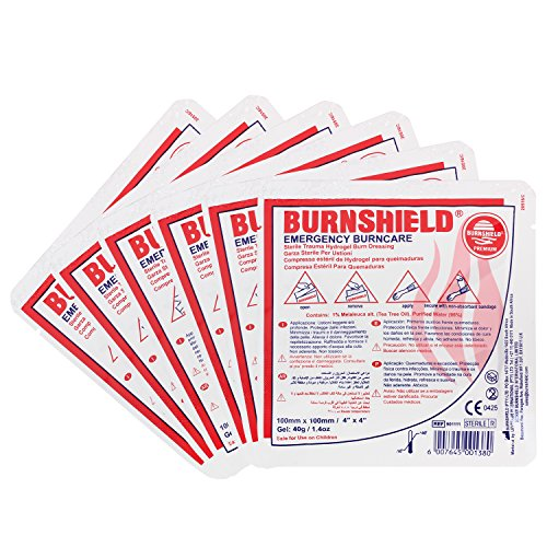 Burnshield 4'' X 4'' Burn Dressing, Sterile (Pack of 6) by Burnshield
