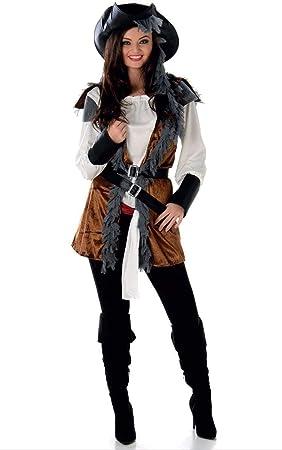 Generique Disfraz de Pirata rebelde Mujer M: Amazon.es: Juguetes y ...