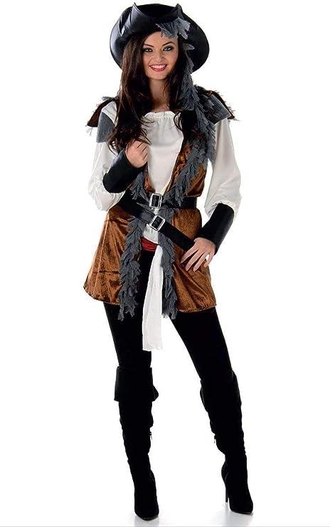 Generique Disfraz de Pirata rebelde Mujer L: Amazon.es: Juguetes y ...