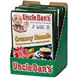 Uncle Dan's Creamy Ranch Dressing, Dip, and Seasoning Mix - Single Packet - For the Perfect Homemade Flavor in Your Salads, Vegetable Dips, Rubs, Pasta Sauces, Marinades