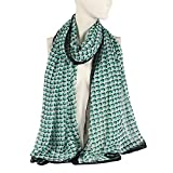 Thin Lightweight Scarfs for Women, Color Inchoice Green Polyster Beach Warp Sun Protection