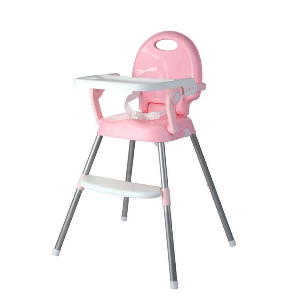 Portable Baby Highchair,Contempo Highchair,Foldable Multi-function Dining Chair, Out Eating Table And Chair Learning Seat (Color : Pink) Onfly