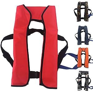Shalleen 1pcs Automatic/Manuel Life Jacket Vest Auto Inflatable Survival Personal Floatation