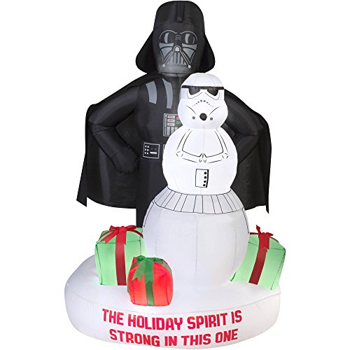 Gemmy Star Wars Darth Vader & Stormtrooper Christmas Airblown Inflatable -