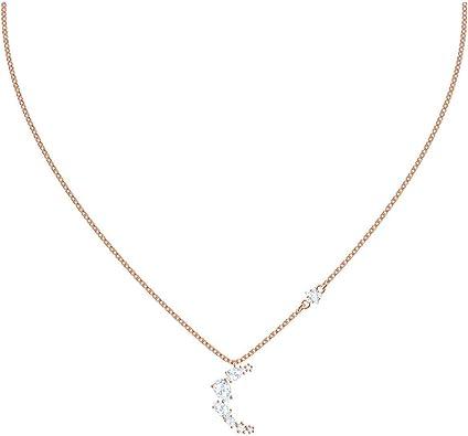SWAROVSKI Crystal Penélope Cruz Moonsun Clear Necklace, Rose Gold-Tone