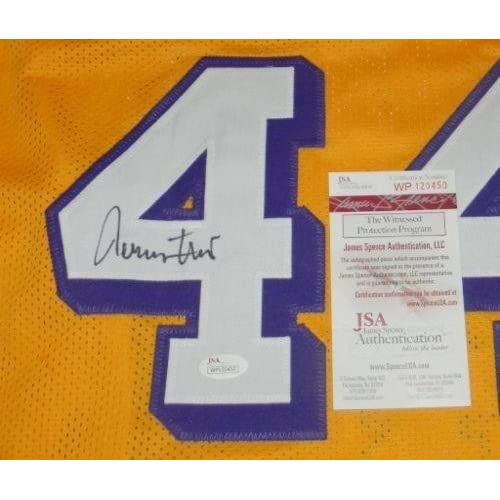 hot sale online 13b44 a3f41 Jerry West Signed Jersey - #44 Gold - JSA Certified ...