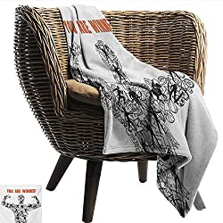 Ewaskyonline Olympics Family Blanket Winner Concept With Sportsman Silhouette Athletes And Competition Icons Print Car Airplane Travel Throw 40 W X 60 L Black White