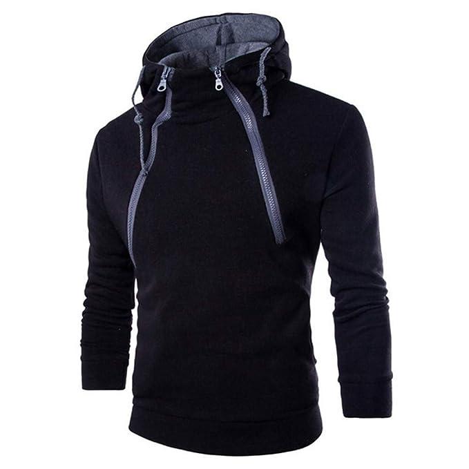 d0531a016c9 Forthery Clearance Men s Hoodies Pullover Sweatshirt EcoSmart Fleece Zipper  Hooded(US Size S   Tag