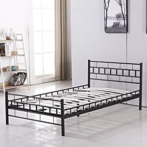 Bestmart inc foldable easy set up steel bed for Bedroom furniture amazon
