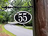 Two Sided Address Plaque - Custom Hanging Address Sign - For Home or Business - Comfort House # P2387