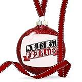 Christmas Decoration Worlds Best Poker Player Ornament