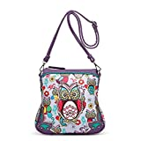 Colorful Owl Print All Over Crossbody Bag
