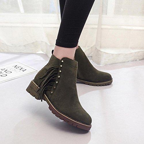 Zapatos Martin Botines tac Botas mujer para Zapatos invierno Boots de cortos de Botines hembra PTfYT1q