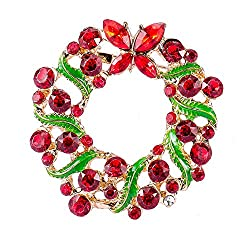 Stunning Vintage Rhinestone Christmas Wreath