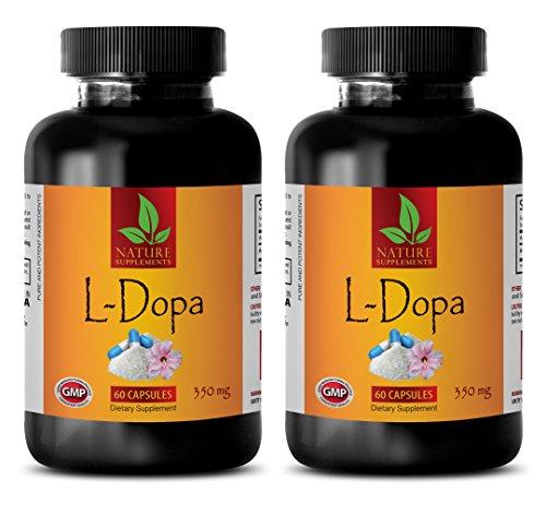 Dopamine Supplements Vitamins - L-DOPA 350 MG - Dietary Supplement - dopa Mind - 2 Bottles (120 Capsules) (Best L Dopa Supplement)