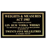 25ml Weights & Measures Act Sign 1985...