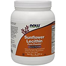 Sunflower Lecithin Powder, 1 lb by Now Foods