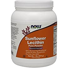 Now Foods Sunflower Lecithin Powder, 1 Pound