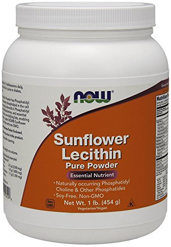 海外直送品Now Foods Sunflower Lecithin Powder, 1 lb B00MU73UKS
