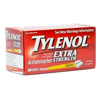 J&Johnson 79152700 Pain Relief Tylenol Caplet 100 Per Box 500 Mg  300450449092 Box Of 100
