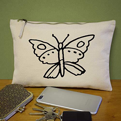 Accessori 'Beautiful custodia pochette Azeeda Butterfly' pochette per cl00014230 56x6ZrX