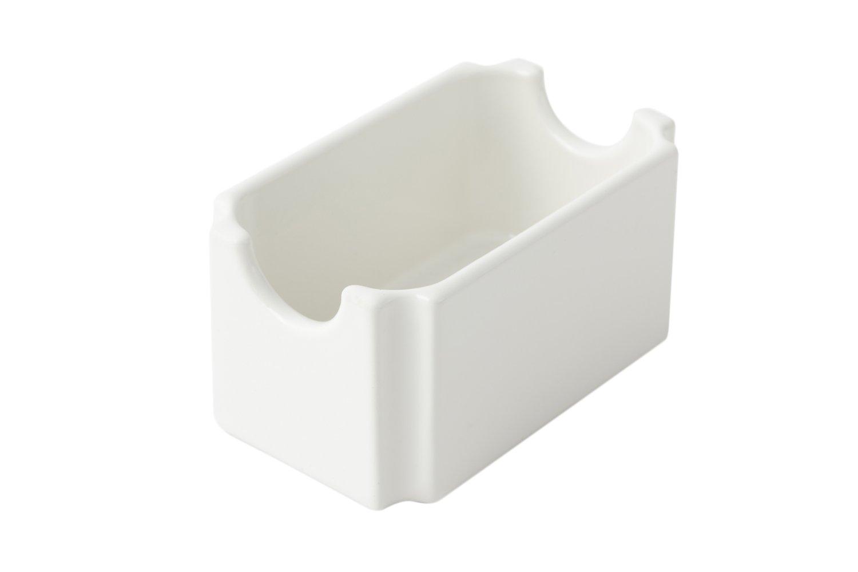Bon Chef 9034 Aluminum Sugar Packet Holder, 4-1/4'' Length x 2-5/8'' Width, Sandstone White (Pack of 6)