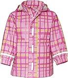 Playshoes Plaid Pattern Waterproof Hooded Rain Jacket (2-3 Years, Pink)