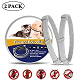 MIUSSAA 2 Pack Pet Collar - Dogs and Cats for 8-Month Validity Period Adjustable Waterproof Cat Collar Fits All