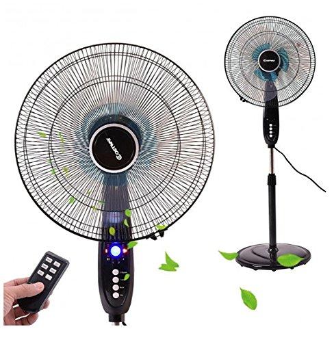 16' Remote Control Pedestal - 16''Adjustable Oscillating Pedestal Fan Stand Floor 3 Speed Remote Control Timer