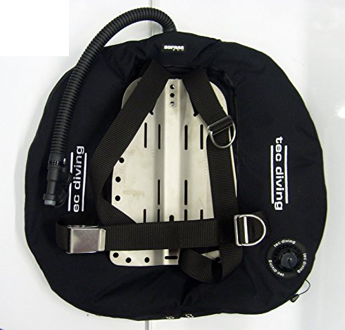 TEC DIVING DOUBLE BCD HARNESS 40 LB LIFT WING ALUMINUM BACKPLATE TECH SCUBA DIVE