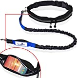 Retractable Hands Free Dog Leash W/Smartphone Pouch – Dual Handle Bungee Waist F