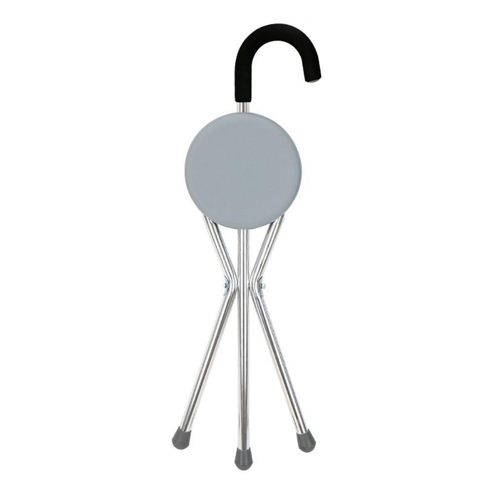 Walking Stick Three Legged Seat Stick Aluminium Healthcare Folding Seat Cane Disability Medical Aid by MYT