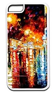 Rainy Night Painting- Hard Plastic Case in White- for the Apple Iphone 4, 4s Universal