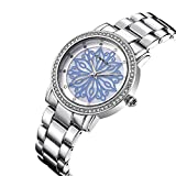 CRRJU Brand Elegant Classic flowers Dial Stainless steel Band Rhinestone Women Watches