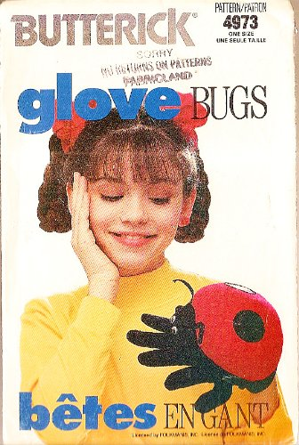 Butterick 4973 Lady Bug Glove Bugs Sewing Pattern One Size ()