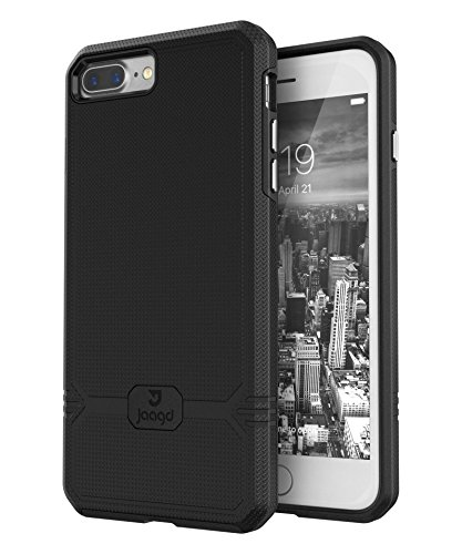 iPhone 7 Plus Case, Slim Shock-absorbing Modern Slim Non-slip Grip Cell Phone Cases for Apple iPhone 7/7s Plus (Black)