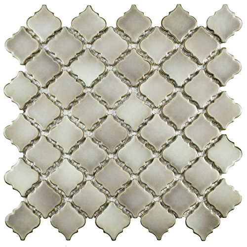 SomerTile FKOLTR27 Tinge Dove Porcelain Floor and Wall Tile, 12.375