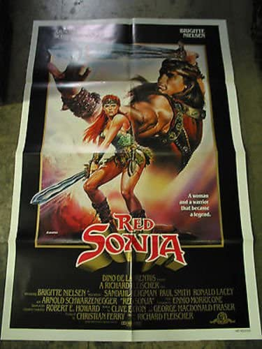 Red Sonja Original U S One Sheet Movie Poster Brigitte Nielsen At Amazon S Entertainment Collectibles Store