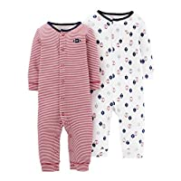 Carter's Just One You Baby Boys' Football Jumpsuit Set- Red (Newborn)